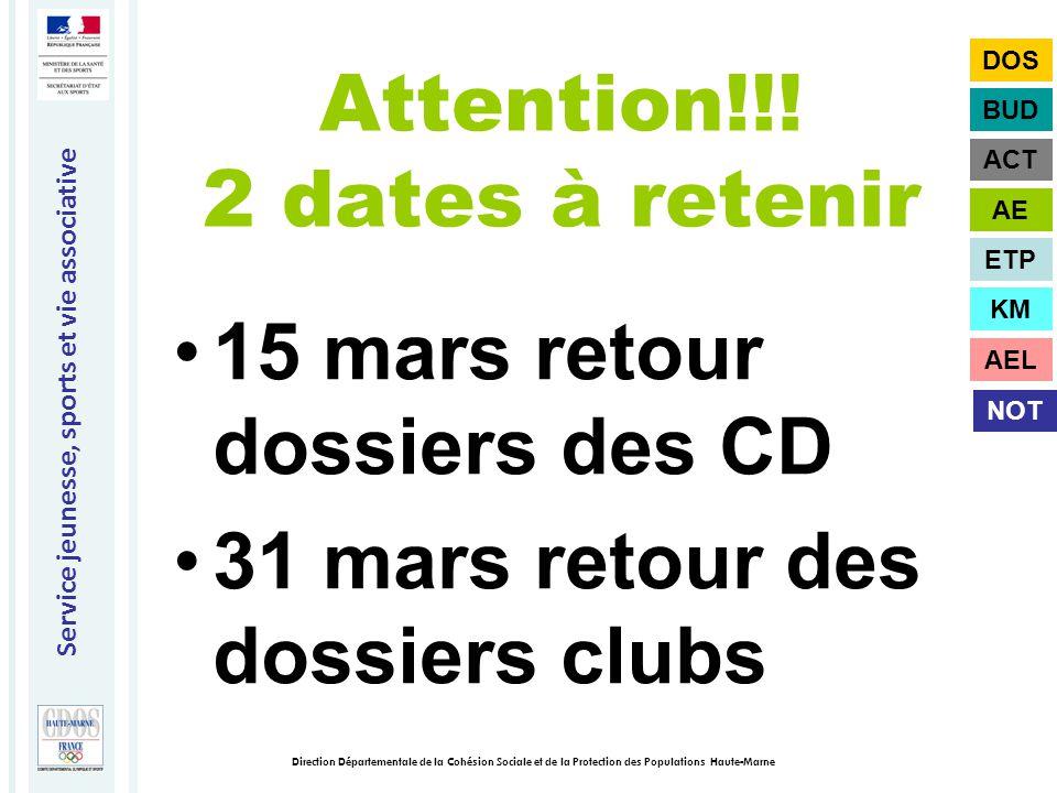 Service jeunesse, sports et vie associative Direction Départementale de la Cohésion Sociale et de la Protection des Populations Haute-Marne Attention!!.