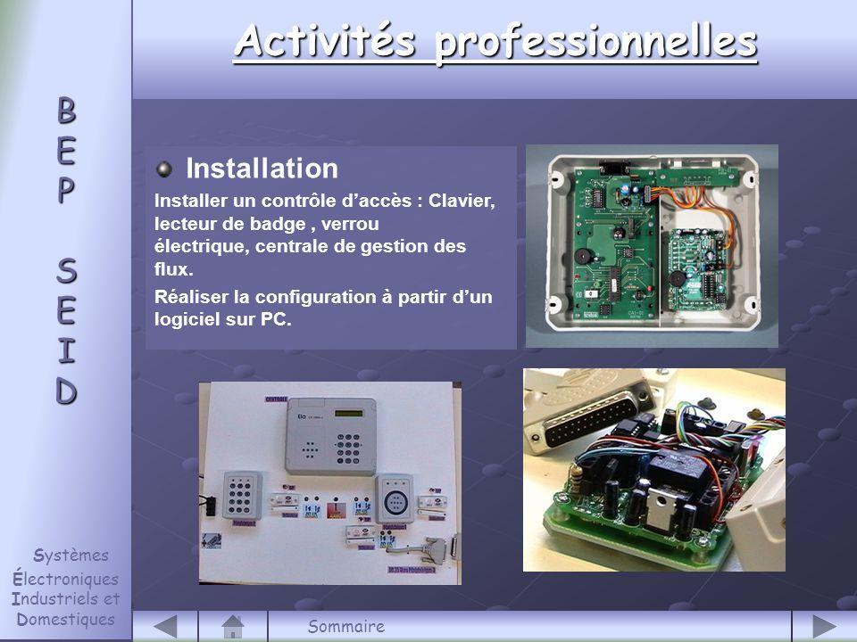 Installation Installer un contrôle d'accès : Clavier, lecteur de badge, verrou électrique, centrale de gestion des flux.