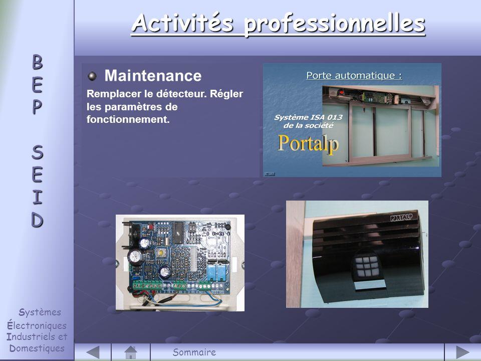 Maintenance Remplacer le détecteur.Régler les paramètres de fonctionnement.