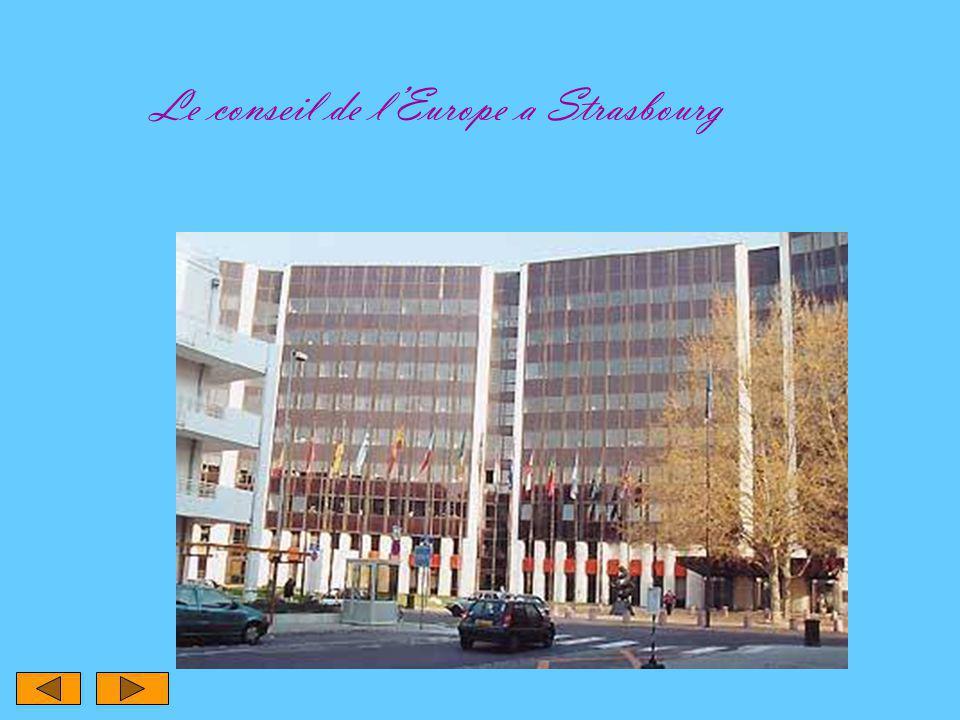 Le conseil de l'Europe a Strasbourg