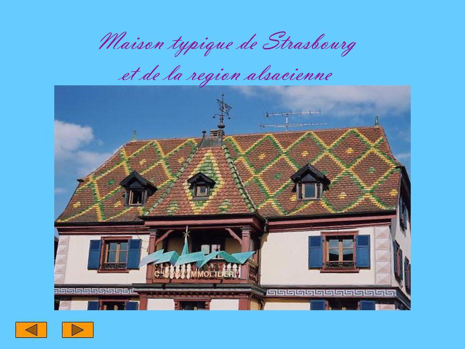 Maison typique de Strasbourg et de la region alsacienne