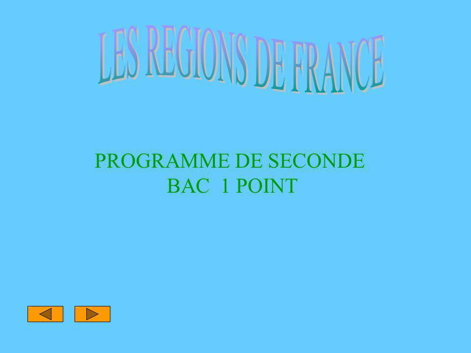 PROGRAMME DE SECONDE BAC 1 POINT