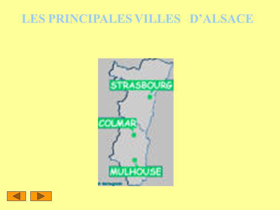 LES PRINCIPALES VILLES D'ALSACE
