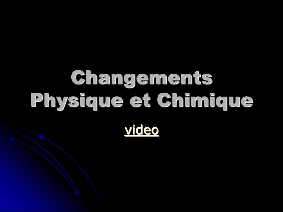 Changements Physique et Chimique video
