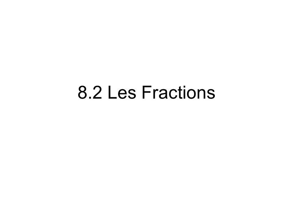 Comprendre les fractions Le nombre ¾ est un fraction.
