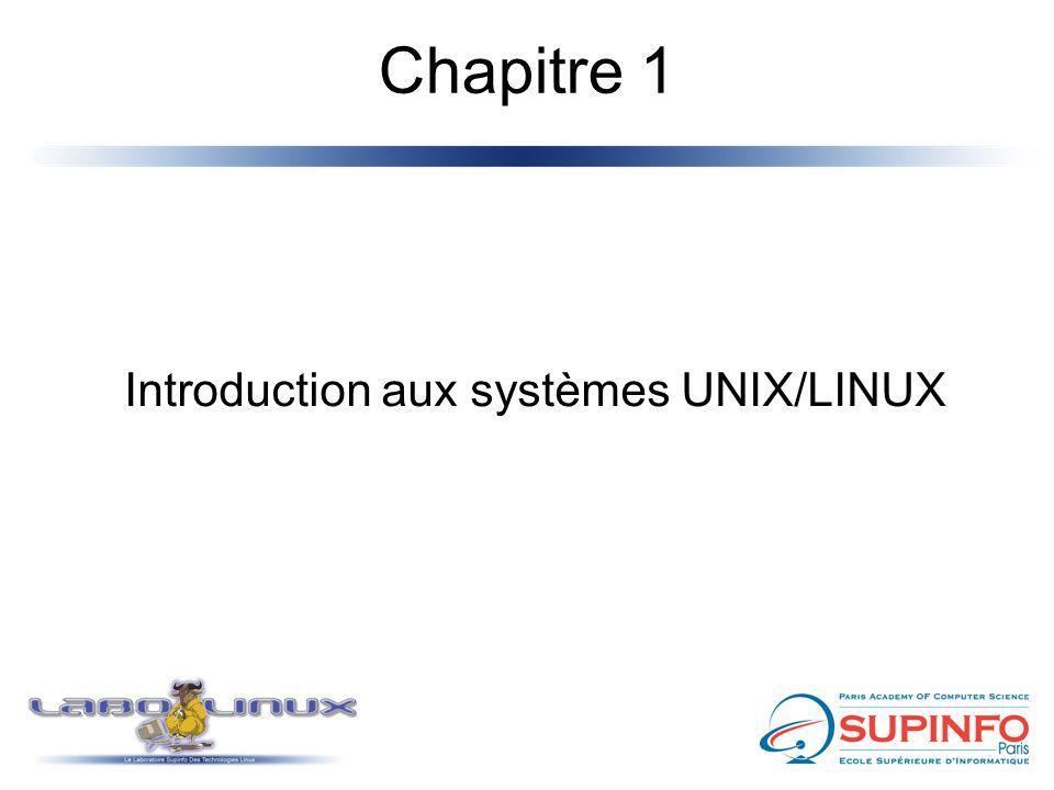 Chapitre 1 Introduction aux systèmes UNIX/LINUX
