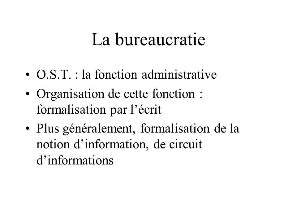 La bureaucratie O.S.T.