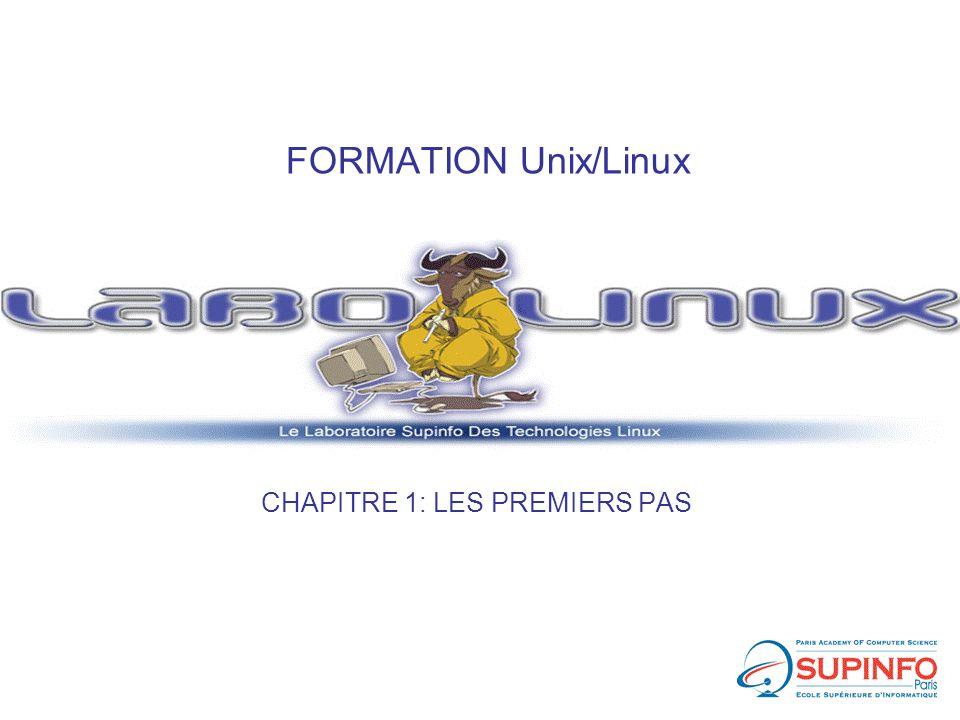 FORMATION Unix/Linux CHAPITRE 1: LES PREMIERS PAS