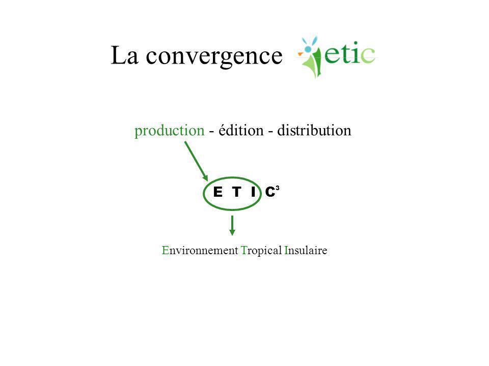 La convergence Environnement Tropical Insulaire E T I C 3 production - édition - distribution
