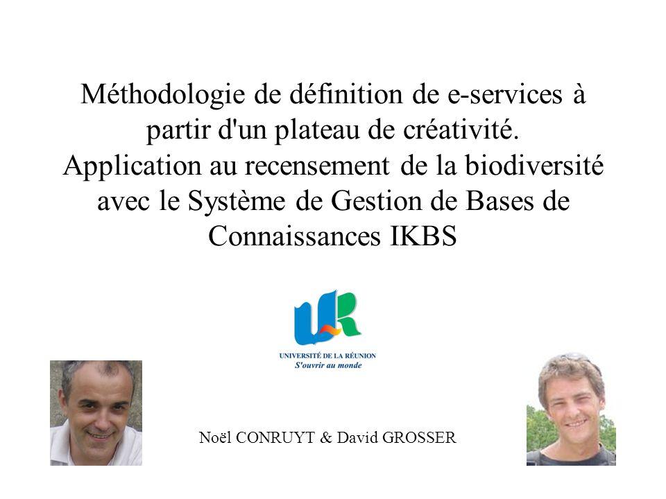 Méthodologie de définition de e-services à partir d'un plateau de créativité. Application au recensement de la biodiversité avec le Système de Gestion