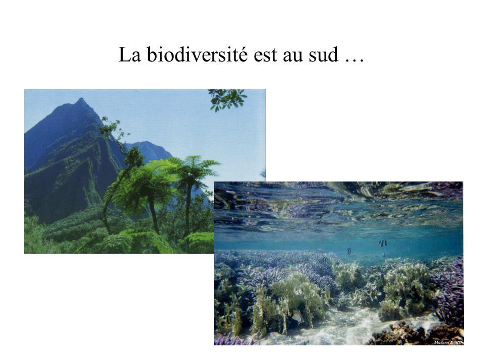 La biodiversité est au sud …