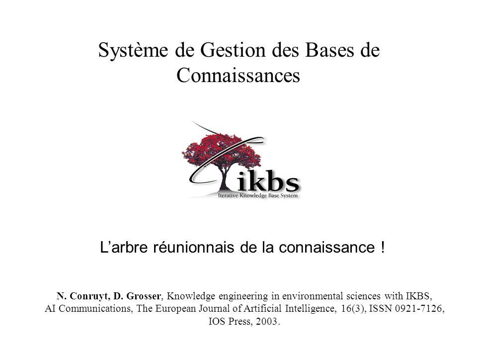 Système de Gestion des Bases de Connaissances L'arbre réunionnais de la connaissance ! N. Conruyt, D. Grosser, Knowledge engineering in environmental