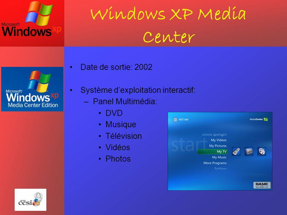 Windows XP Tablet PC Date de sortie: 2005 Utiliser dans les solutions mobiles Utilités: –Permet d'écrire sur son pc comme sur un cahier –Envoi d'e-mails manuscrits –Reconnaissance d'écriture –Similaire a une station de bureau (applications) Avantages: –Mobilité (compact, léger) –Wifi reconnu –Périphériques compatibles (imprimante…)