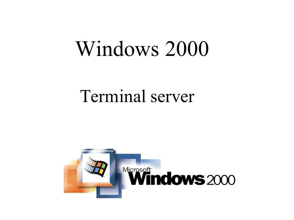Définition –L objectif de Terminal Server est de pouvoir partager l utilisation d un serveur et de ses applications au moyen de PC clients légers.