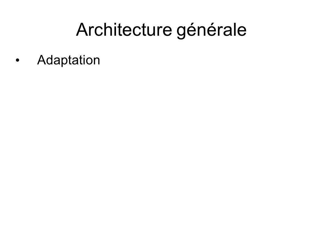 Architecture générale Adaptation