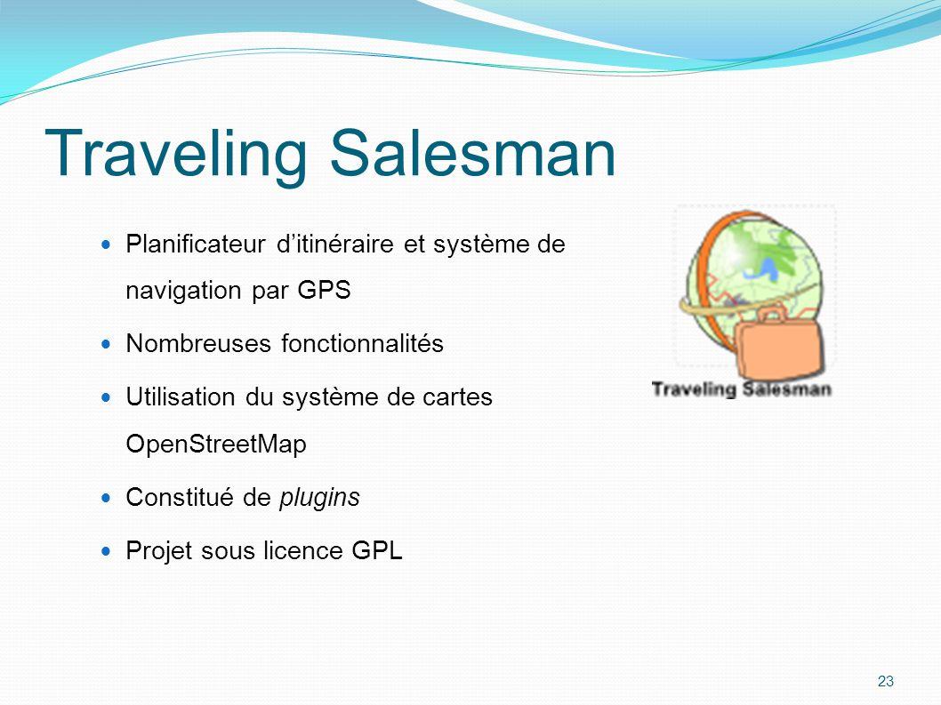 Traveling Salesman Planificateur d'itinéraire et système de navigation par GPS Nombreuses fonctionnalités Utilisation du système de cartes OpenStreetM