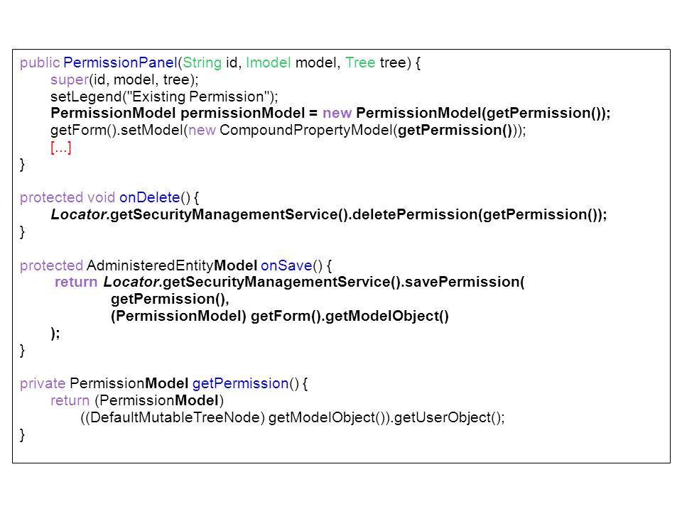 public PermissionPanel(String id, Imodel model, Tree tree) { super(id, model, tree); setLegend(