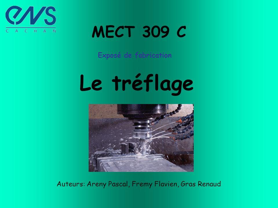 MECT 309 C Exposé de fabrication Le tréflage Auteurs: Areny Pascal, Fremy Flavien, Gras Renaud