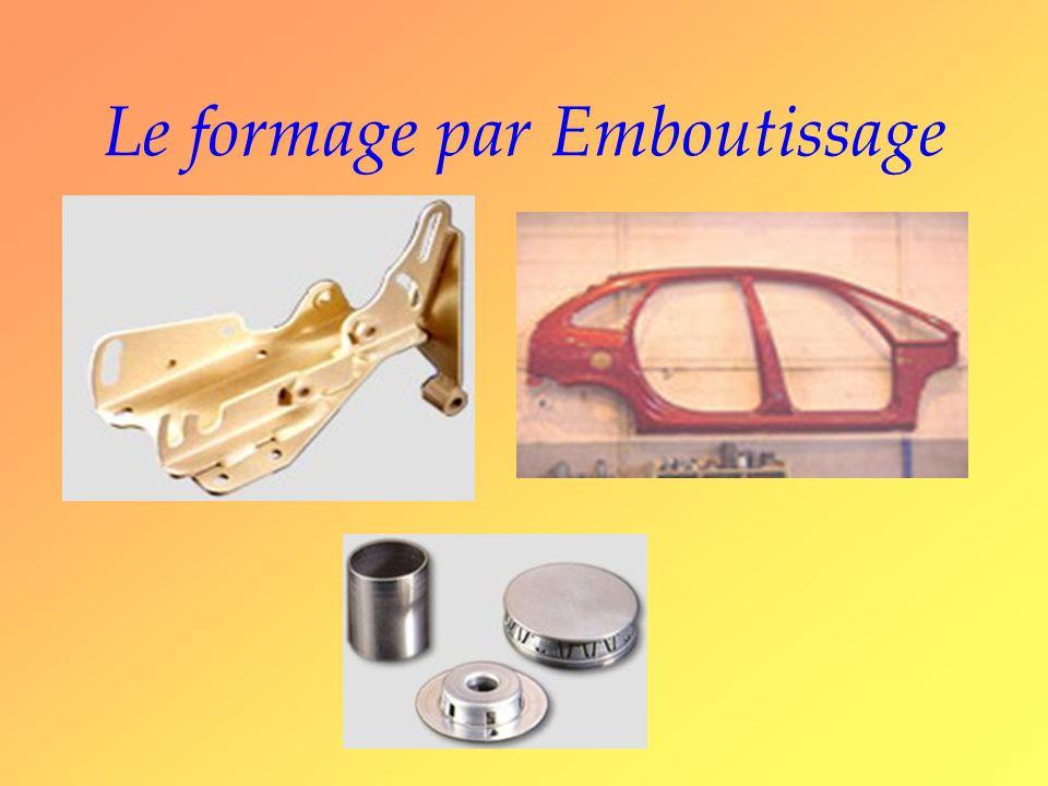 Le formage par Emboutissage