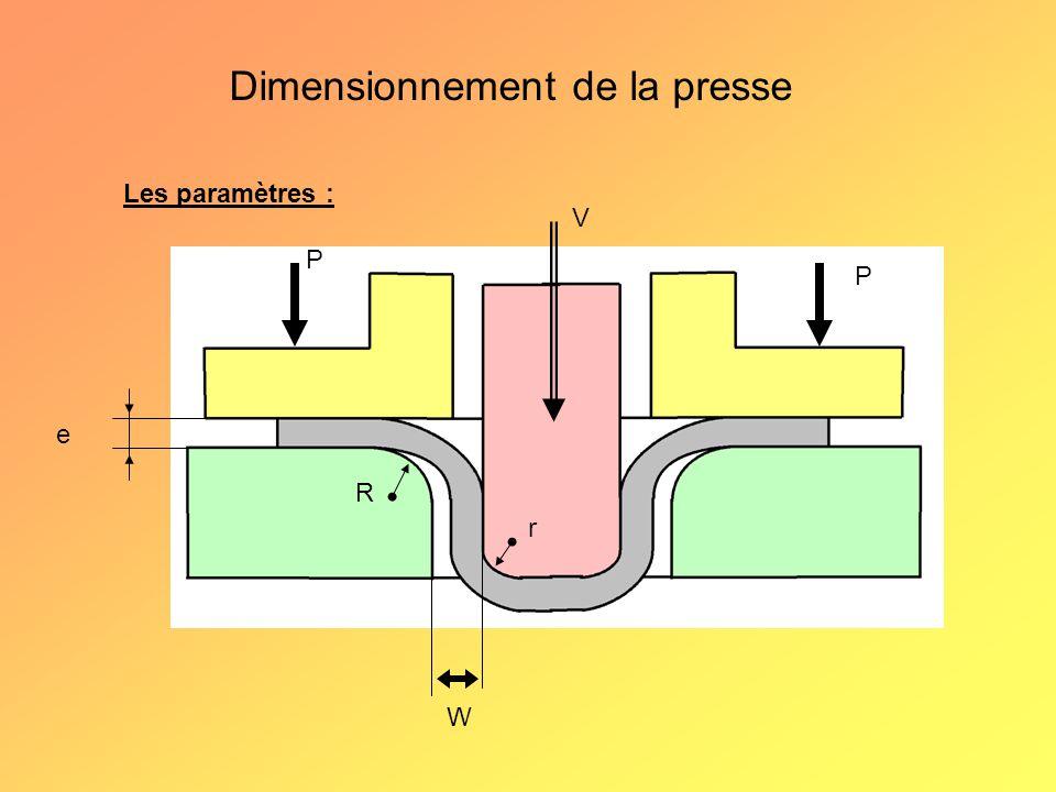 Dimensionnement d'une piece Calcul du diametre primitif d D e D² = (Σ4/π*S)² h