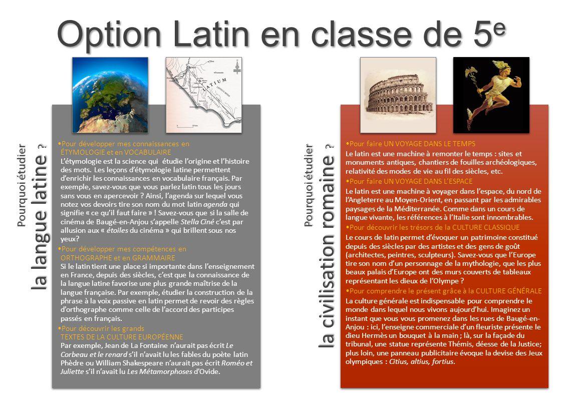 EngagementProgrammeQualités Le latin, ce n'est pas obligatoire .