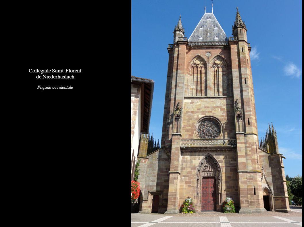 Collégiale Saint-Florent de Niederhaslach Façade occidentale