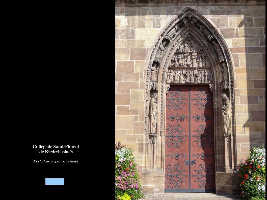 Collégiale Saint-Florent de Niederhaslach Portail principal occidental