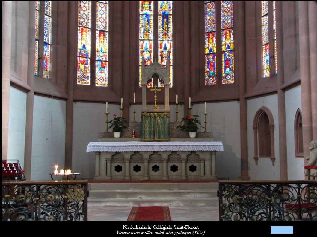 Niederhaslach, Collégiale Saint-Florent Chœur avec maître-autel néo-gothique (XIXe)