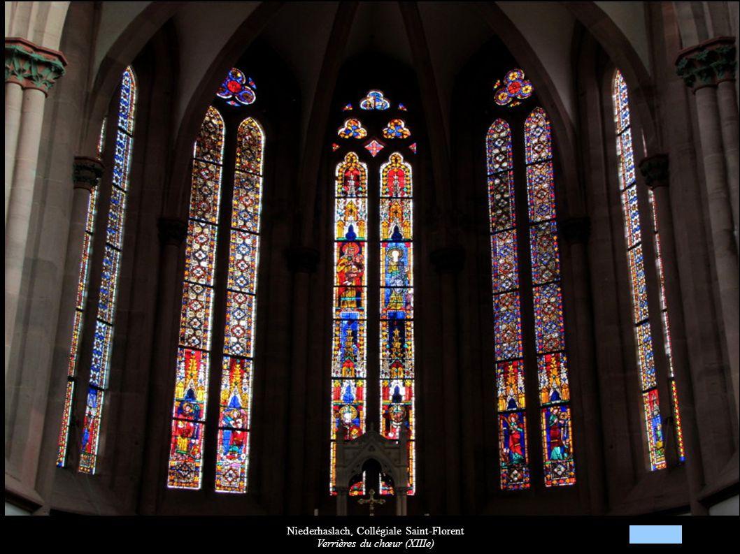Niederhaslach, Collégiale Saint-Florent Verrières du chœur (XIIIe)