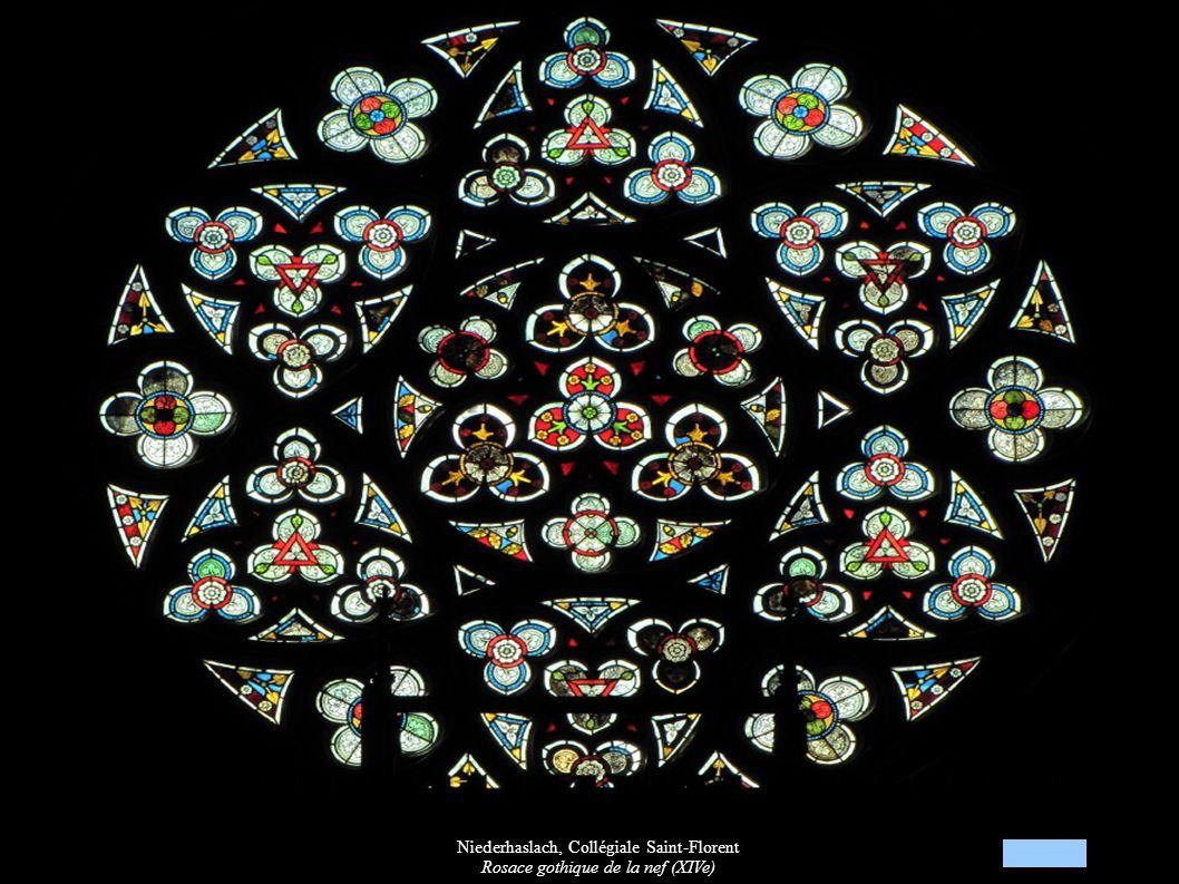 Niederhaslach, Collégiale Saint-Florent Rosace gothique de la nef (XIVe)
