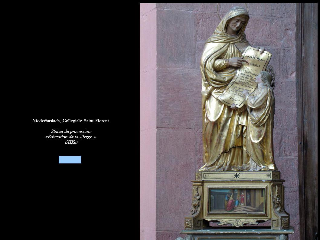 Niederhaslach, Collégiale Saint-Florent Statue de procession «Education de la Vierge » (XIXe)