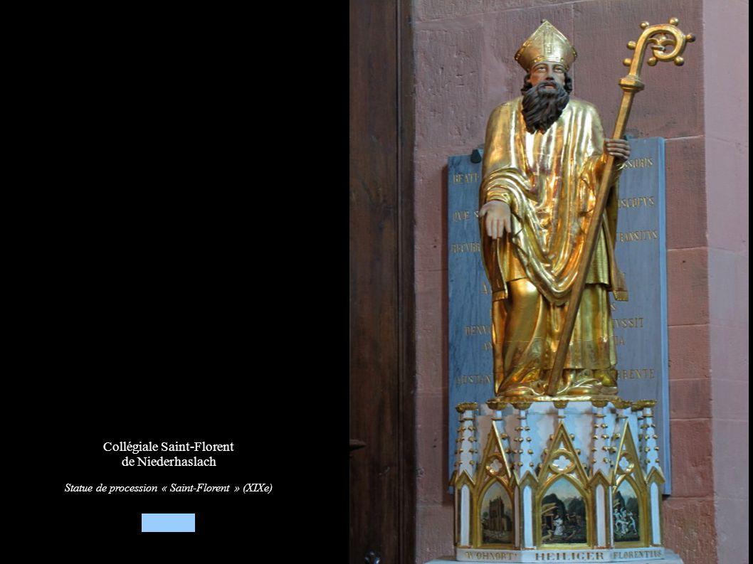 Collégiale Saint-Florent de Niederhaslach Statue de procession « Saint-Florent » (XIXe)