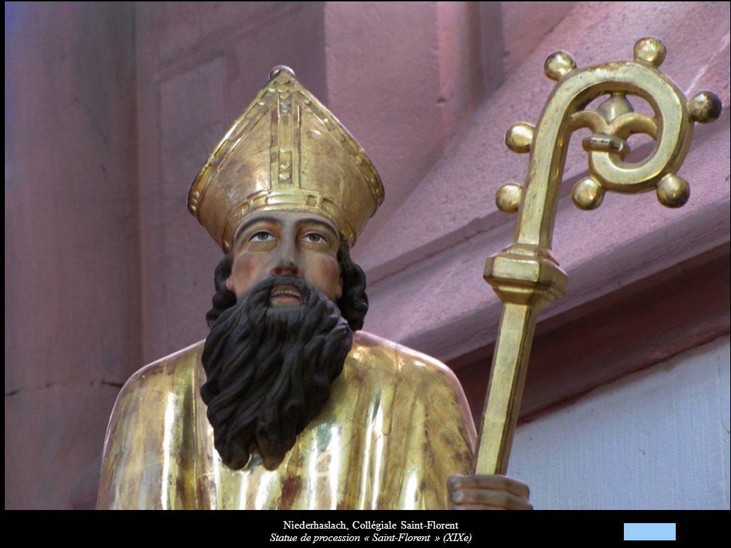 Niederhaslach, Collégiale Saint-Florent Statue de procession « Saint-Florent » (XIXe)