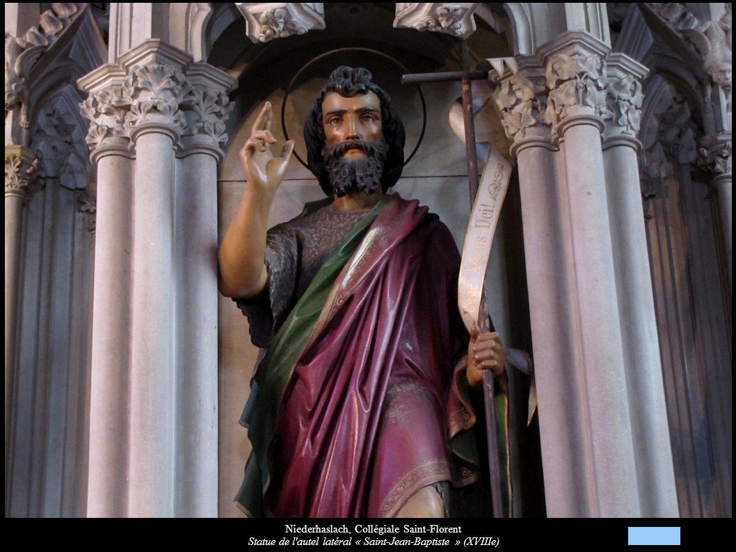 Niederhaslach, Collégiale Saint-Florent Statue de l'autel latéral « Saint-Jean-Baptiste » (XVIIIe)