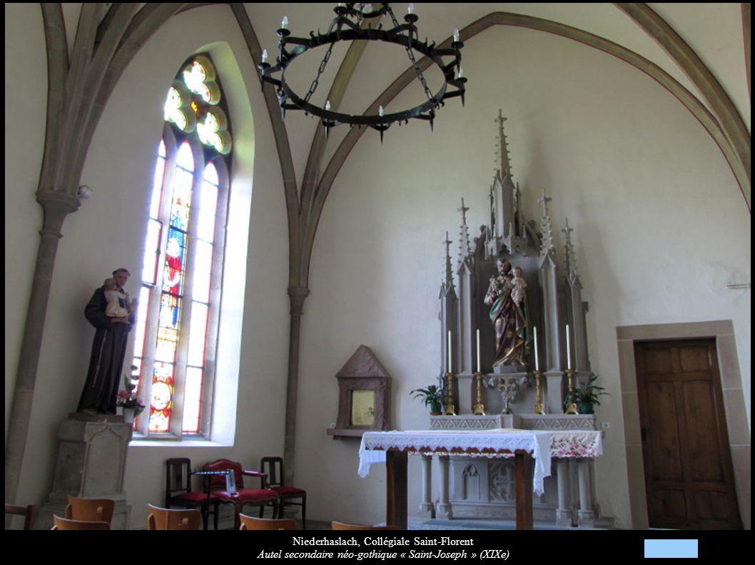 Niederhaslach, Collégiale Saint-Florent Autel secondaire néo-gothique « Saint-Joseph » (XIXe)