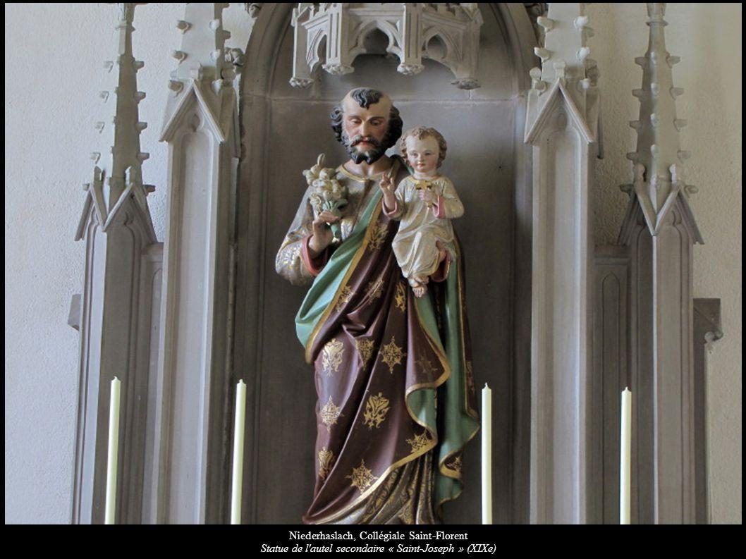Niederhaslach, Collégiale Saint-Florent Statue de l'autel secondaire « Saint-Joseph » (XIXe)
