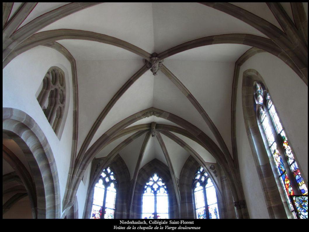 Niederhaslach, Collégiale Saint-Florent Voûtes de la chapelle de la Vierge douloureuse
