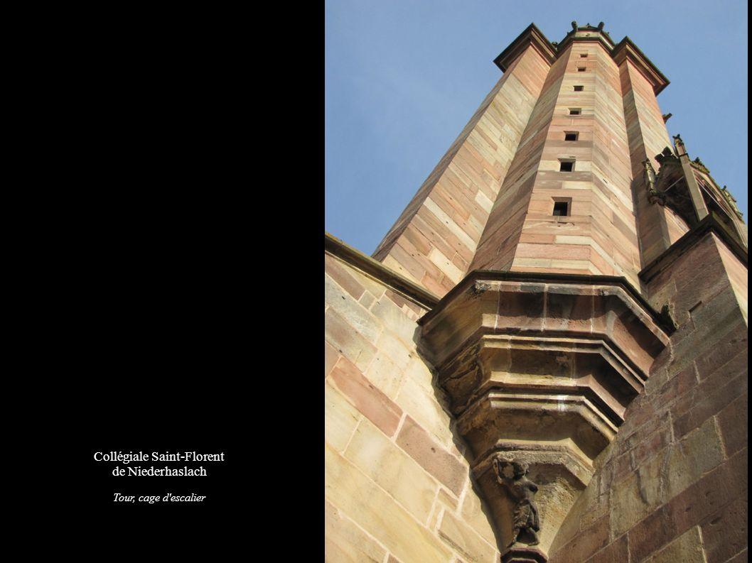 Collégiale Saint-Florent de Niederhaslach Tour, cage d'escalier