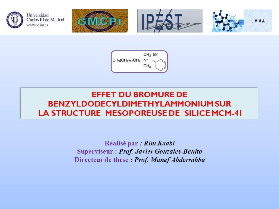 Réalisé par : Rim Kaabi Superviseur : Prof. Javier Gonzales-Benito Directeur de thèse : Prof. Manef Abderrabba Réalisé par : Rim Kaabi Superviseur : P