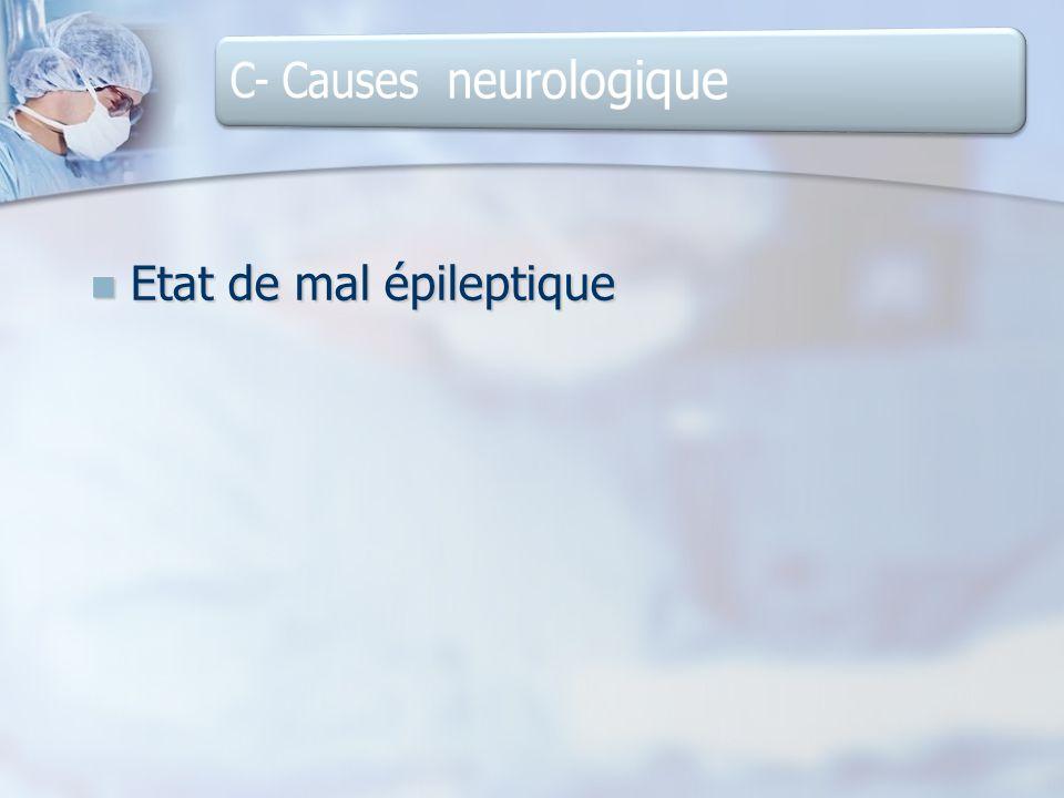 Etat de mal épileptique Etat de mal épileptique