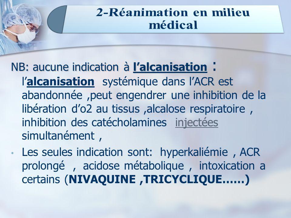 NB: aucune indication à l'alcanisation : NB: aucune indication à l'alcanisation : l'alcanisation systémique dans l'ACR est abandonnée,peut engendrer u