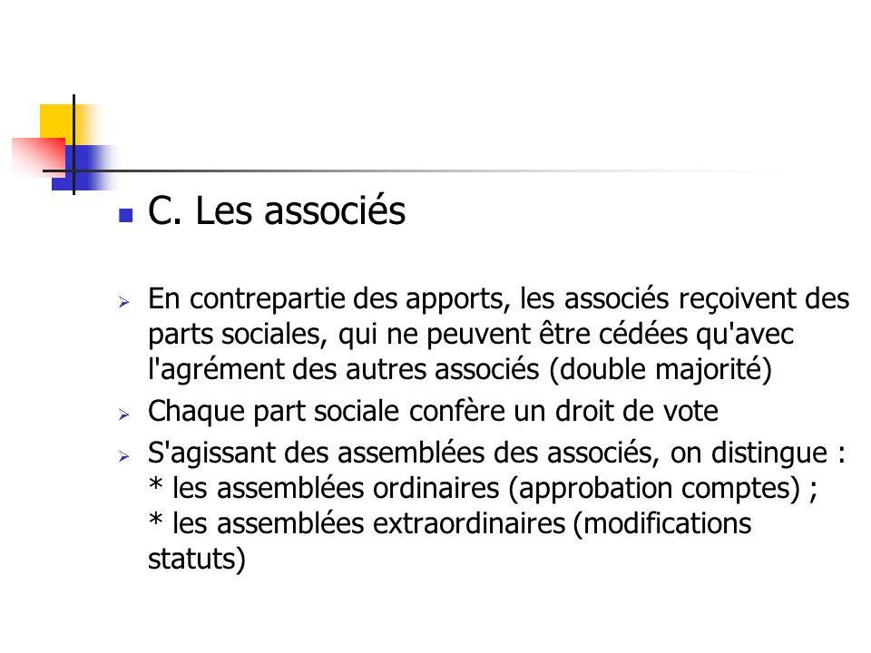 III.LA DISSOLUTION DE LA S.A.R.L.