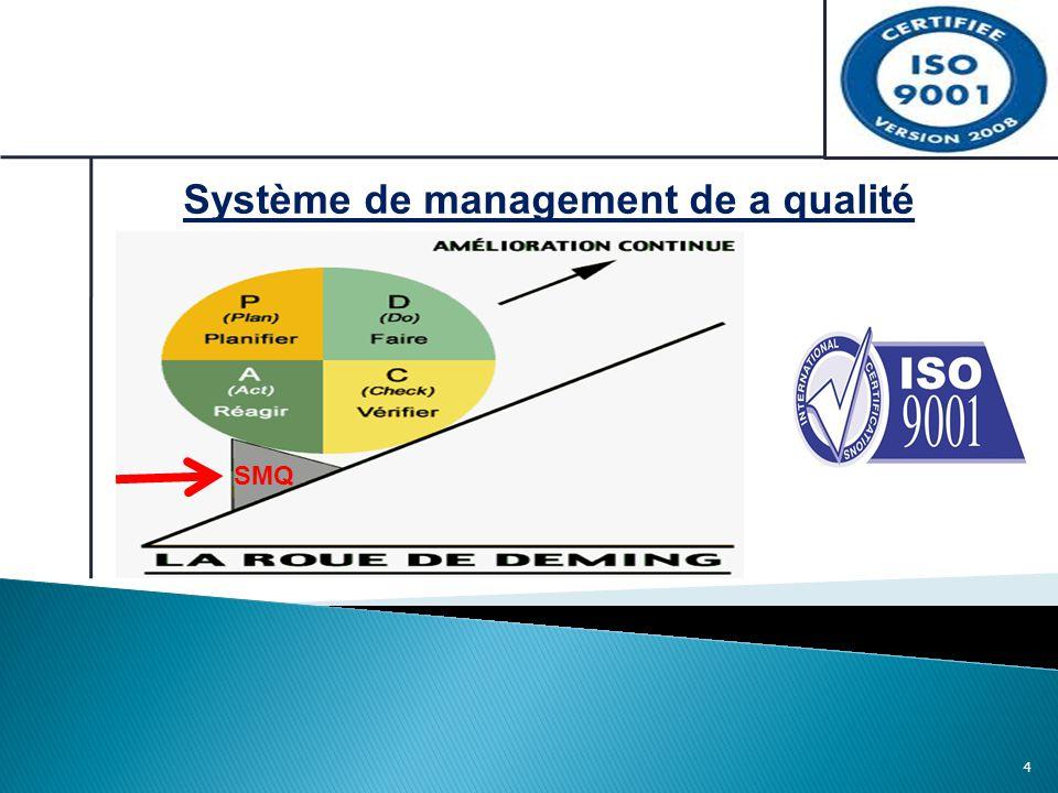 4 Système de management de a qualité SMQ