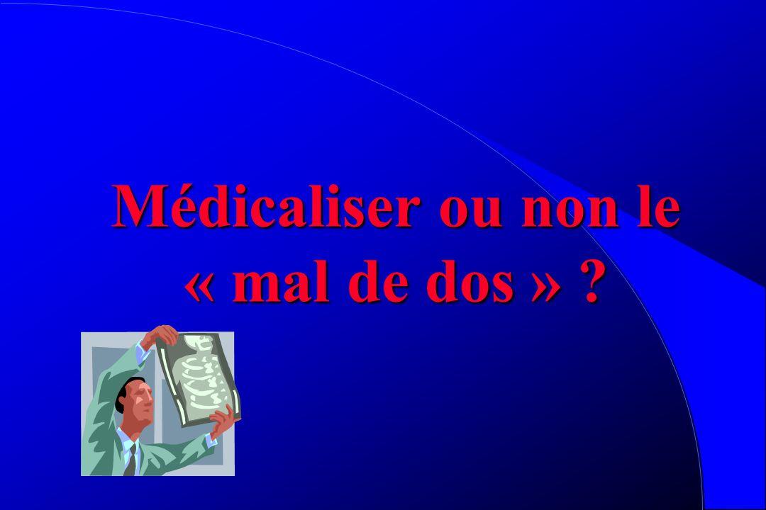 Médicaliser ou non le « mal de dos » ?