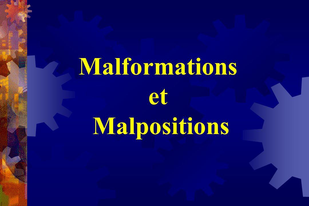 Malformations et Malpositions