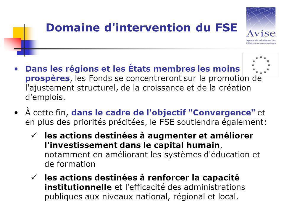 Dans les régions et les États membres les moins prospères, les Fonds se concentreront sur la promotion de l ajustement structurel, de la croissance et de la création d emplois.