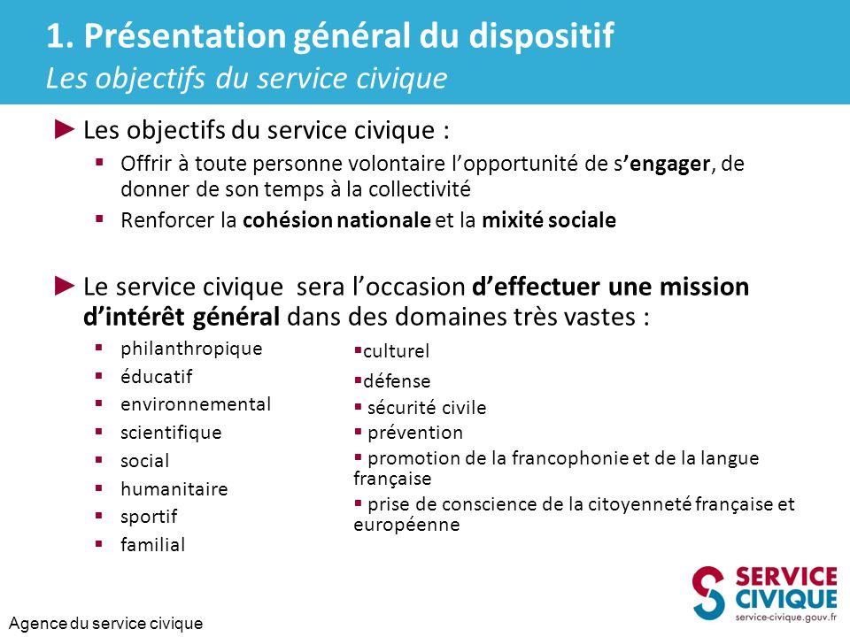 Agence du service civique ► Les associations bénéficieront d'un soutien de l'Etat de 100 euros/ mois au titre des frais exposés pour assurer l'encadrement et l'accompagnement du jeune volontaire.