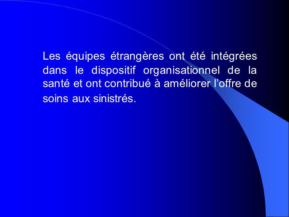 TABLEAU N° 5 : Effectifs des personnels du Secteur public de la santé ayant intervenu dans les zones sinistrées y compris les renforts en provenance d'autres wilayas