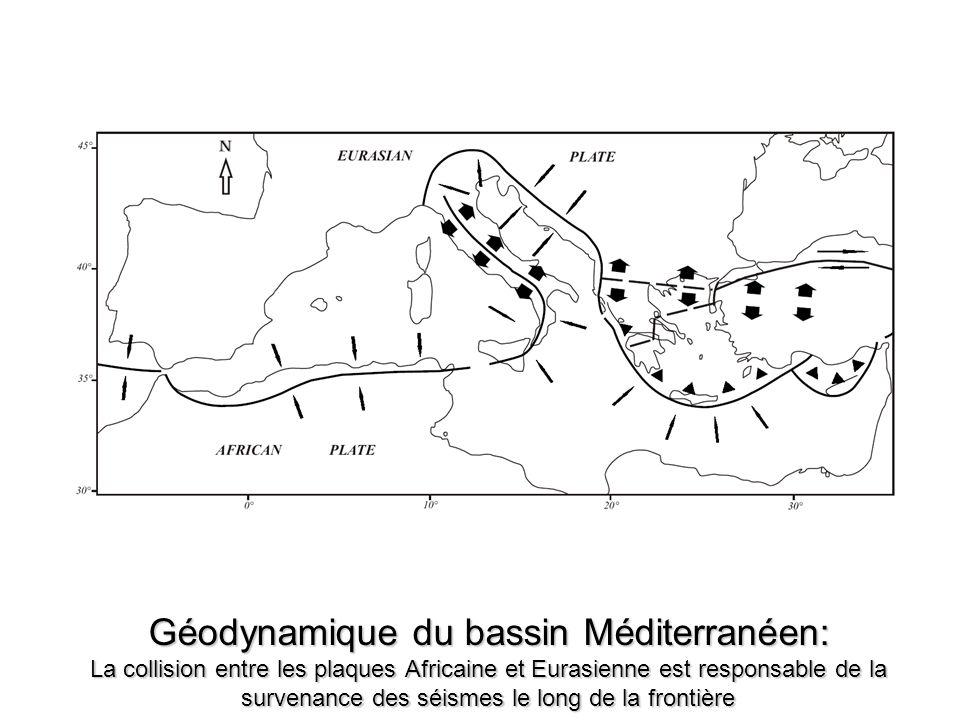 Géodynamique du bassin Méditerranéen: La collision entre les plaques Africaine et Eurasienne est responsable de la survenance des séismes le long de l