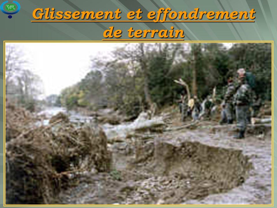 21 Glissement et effondrement de terrain
